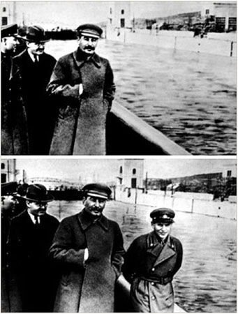 Soviet Russia- Stalin removed a comrade who later became an enemy