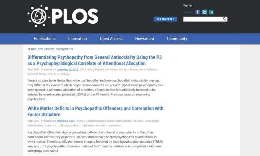 plos screenshot